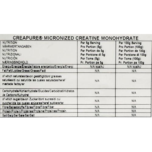Bulk Creapure Creatine Monohydrate Powder, 500 g, Packaging May Vary
