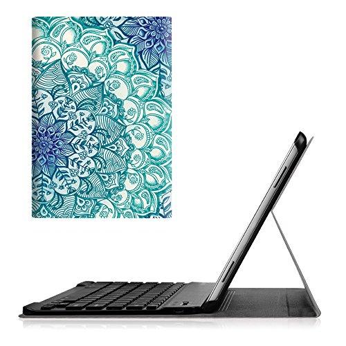 Fintie Blade X1 Samsung Galaxy Tab A 10.1 Bluetooth Tastatur Hülle Keyboard Case - Ultradünn leicht SmartShell Ständer Schutzhülle mit magnetisch abnehmbarer drahtloser deutscher Bluetooth Tastatur für Samsung Galaxy Tab A 10,1 Zoll T580N / T585N Tablet (2016 Version), smaragdblau