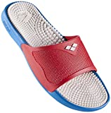 ARENA Ciabatte Marco X Grip, Unisex, 80635, Solid Turquoise/Red/White, 42