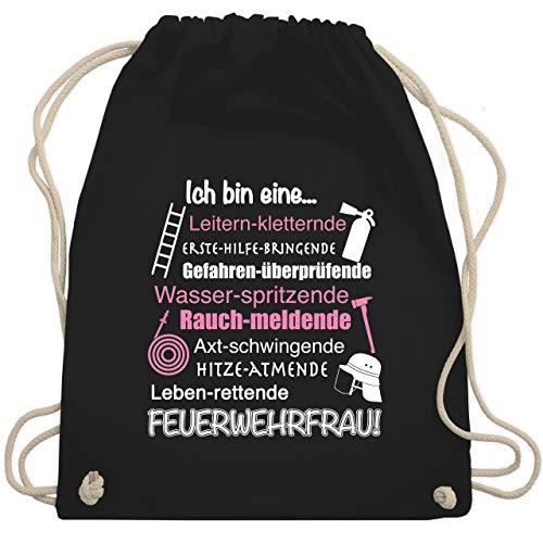 Feuerwehr - Ich bin eine Feuerwehrfrau! - Unisize - Schwarz - WM110 - Turnbeutel & Gym Bag Fw-hose