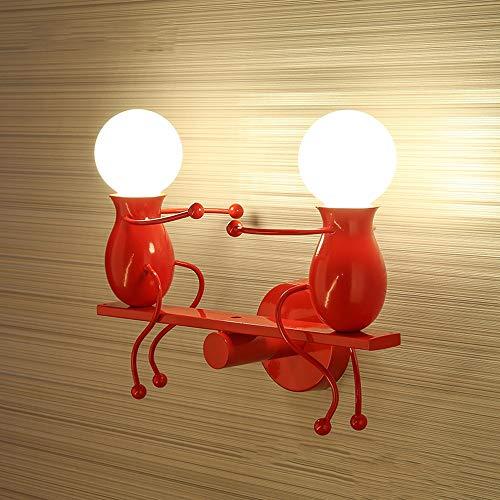 kreative kleine Leute-Wandleuchte beleuchtet postmoderne einfache Wandlampe Kinderzimmer-Wand-Laterne-nordisches Schlafzimmer-Nachttischlampe beleuchtet Korridor-Treppen-Balkon-Hintergrund-Beleuchtung