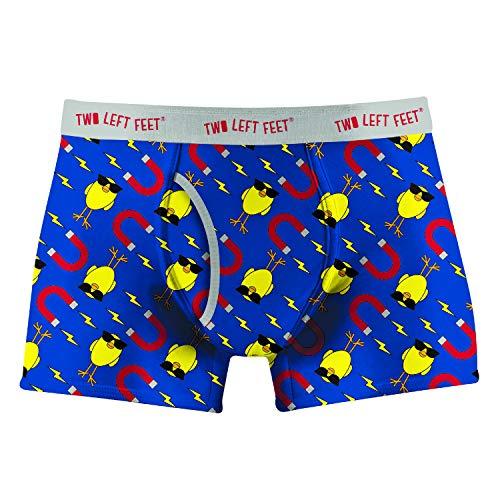 Two Left Feet Herren Mens Boxer Brief Underwear Slip, Chick Magnet, X-Large -