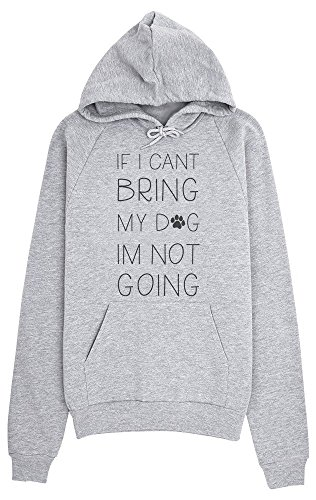 Paw Prints Hoodie (If I Can't Bring My Dog I'm Not Going Cute Dog Paw Women's Hoodie Pullover Frauen Kapuzenpullover XX-Large)
