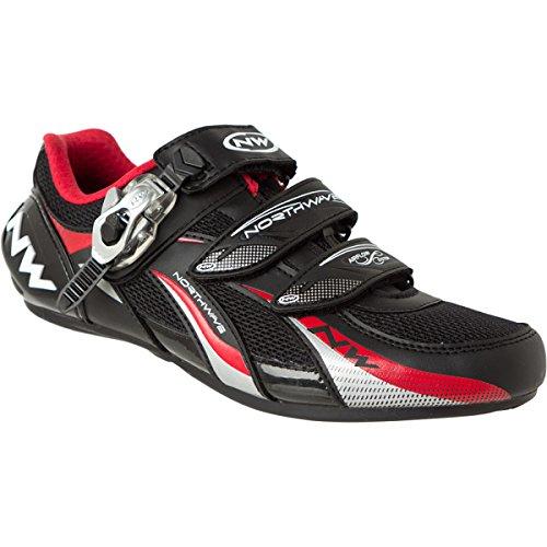 Northwave fighter s.b.s. per bici da corsa scarpa Bianco/Argento 2013 (nero - rosso - bianco)