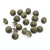 50 piezas 19 millimeter X15 millimeter bronce Chrysanthemum clavos clavo Deco Tack clavos para tapicería batería clavos Chincheta mal genio chinchetas