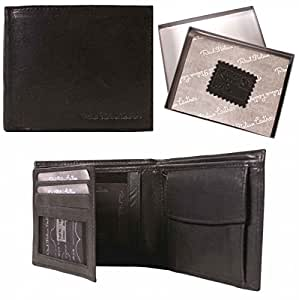 Mens Real Leather Wallet With Coin Pocket Genuine Quality Italian Leather Wallet From Life-Plicity in Black