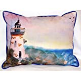 Betsy Drake Hj052 Light House Large Indoor-Outdoor Pillow 15 In. X 22 In.