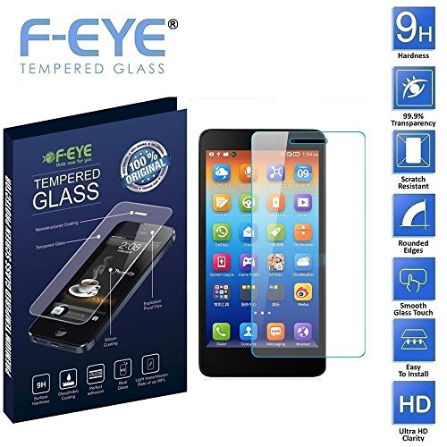 FNS F-EYE® Lenovo S860 Tempered Glass, Ultra Clear,0.33mm Thickness , 2.5D Round Edge , 9H Hardness Mobile Screen Protector, Safety Packing And Easy To Install In Your Phone (Lenovo S860)