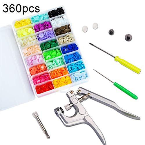 Kunststoffknöpfe, Tragbar Weitere Option Bunte Kleidung Button Tool Zubehör Kit für Alle Arten von Kleidung DIY (Nähen-kits Für Maschinen)