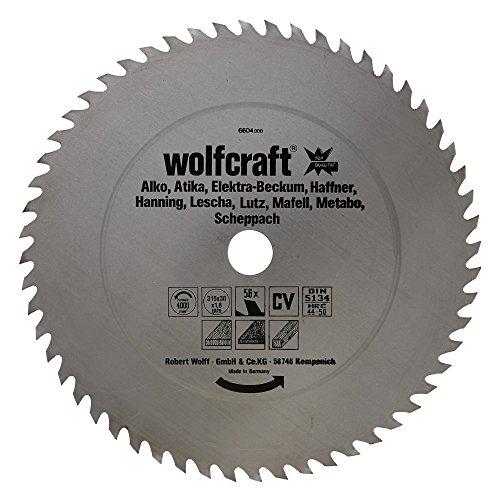 Wolfcraft Kreissäge-Blatt 315  X 30 56Z Cv