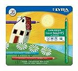 Lyra Color Giants laccato in confezione di Metallo da 18 pastelli