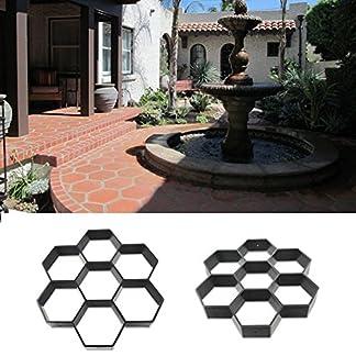 GEZICHTA Molde de jardín para pavimento de jardín de la marca molde de hormigón de pavimento manual, moldes de hormigón de piedra de ladrillo para caminos