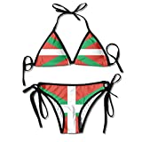 Linkla Danniol Women's Flagof Basque Country Fashion Bikini Swimsuit Swimwear