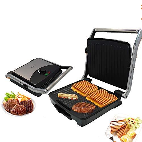 HZYYZH Home Panini Machine, Sandwich Breakfast Machine Barbecue Machine, Sausage, Burger Toast Steak Machine, 2000W High Power Double-Sided Heating
