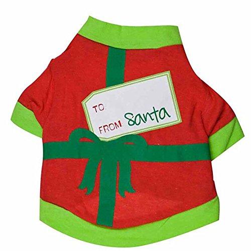 EUZeo Christmas Schöne Geschenke Stil Hund T-Shirt Pullover Pet Kleidung Niedlich Kleide Hund Katze Kostüme Hündchen Kätzchen Hundepullover Tanktops Westen Tee Pulli Tank Tops