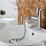 Charmingwater Armatur Bad Wasserhahn Einhebelmischer Badarmatur Waschbeckenarmatur mit ausziehbarem Brause Mischbatterie Waschtischarmatur