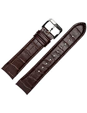 HUGO BOSS Uhrenarmband 22mm Leder braun original Prägung, Kroko - Lederarmband passend für Uhrenmodell 1512876...
