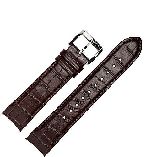 Hugo Boss Uhrenarmband 22mm Leder Braun Kroko - Uhrband - Leder Braun Boss Hugo