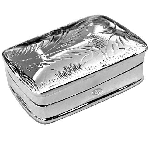 silberkanne Pillendose Silber 925 Simona 2,7x3,7 cm Sterling in Top Verarbeitung