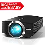 Video Projector, GooDee 2200 lm Luminous Flux LED Source Video Projector Supported 1080P - Best Reviews Guide