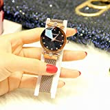 Reloj Chica Starry Sky Imán Correa Trend Trend Waterproof 2018 Nuevo Net Red Watch Sky Star, Golden