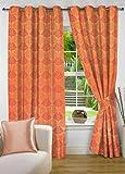 fflaunt Orange Floral Poly Cotton Eyelet...