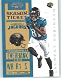 2012 Panini Contenders Playoff Season Ticket # 46 Laurent Robinson - Jacksonville Jaguars (NFL Football Trading Card)