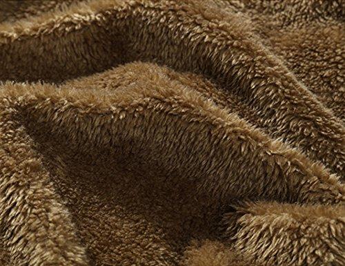 Glestore Homme Parka Doudoune Manteaux Hiver Chaud épais Veste Capuche en Fourrure Amovible Blousons Couleur Loisir Noir M