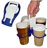 carryaround Fold Away Cup/Kaffee/Pint Carrier/Getränke–stabile wiederverwendbar Pocket Größe