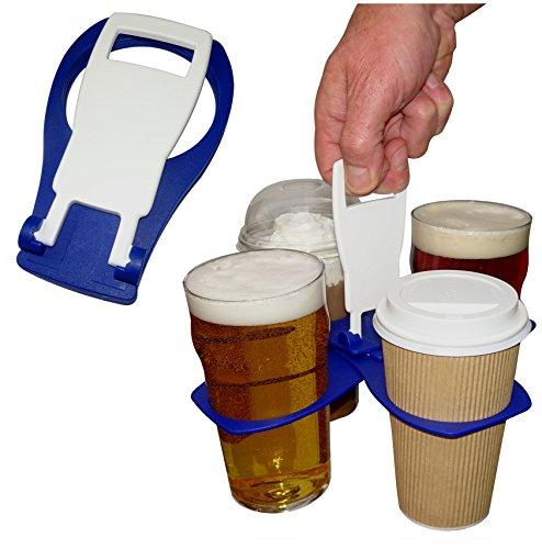 carryaround Fold Away Cup/Kaffee/Pint Carrier/Getränke–stabile wiederverwendbar Pocket Größe (Guinness Rugby-bier)