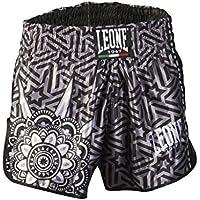 Leone 1947 AB761 Pantalones Cortos de Kick-Thai, Unisex – Adulto, Negro, L