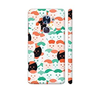 Colorpur LeEco Le 2 Cover - Abstract Smiling Face Pattern Printed Back Case