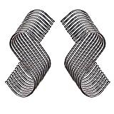 Ganchos en forma de S, sicai 20pcs para colgar de acero inoxidable S ganchos para dormitorio, Bathroon, cocina, y oficina (tamaño mediano)