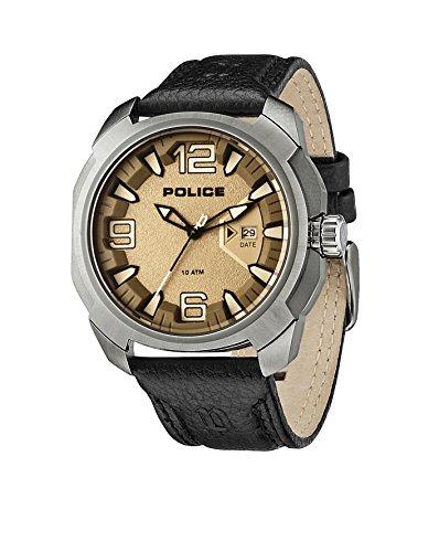 Police Alcron Herren-Armbanduhr Analog Quarz Leder - PL.93831AEU/61