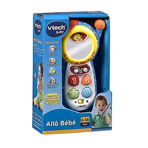 vtech allo b b 111305 toy telephone blue at shop ireland. Black Bedroom Furniture Sets. Home Design Ideas