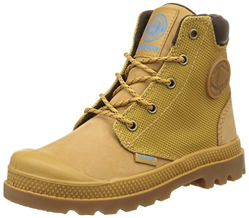 Palladium Mädchen Hi Cuff Wpn K Sneaker Gelb - Jaune (846 Amber Gold/Mid Gum)