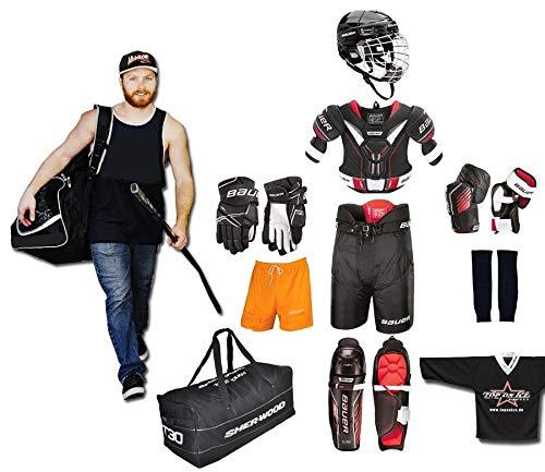 TOP-ON-ICE Eishockey Starter Set Bauer S18 10-teilig Erwachsene M