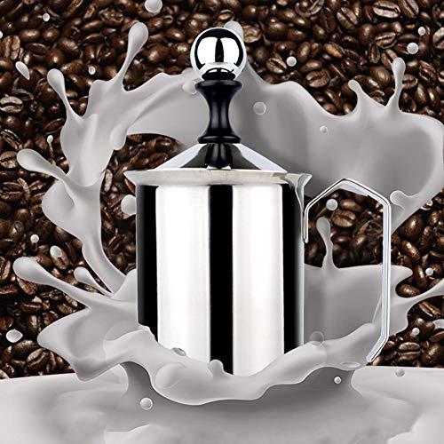 iBaste Mini Edelstahl Bubbler- Butterwärmer Edelstahl Milchaufschäumer Cappuccino Kaffee...