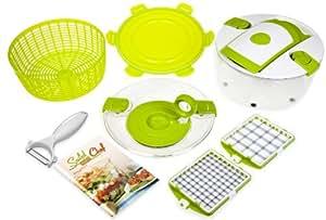 Genius 26171 Salat Chef JUNIOR Coupe-légumes + essoreuse à salade 9 pièces