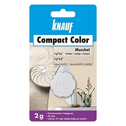 Knauf Compact Colors Farb-Pigmente - Pigment-Pulver zum Einfärben von Putz, nicht staubend, hoch konzentriert und wischfest, Muschel, 2-g
