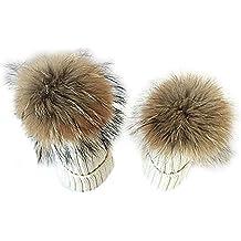 Butterme 2 pezzi Madre e bambino Crochet cappello a maglia cappotto caldo  invernale-bambino invernale 35bf5562ccfd