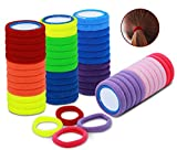 50 Stück bunte Haargummis für Mädchen & Frauen mit Stil. Haargummi aus hochwertiger Baumwolle in 10 Farben, elastisch und bequem für den täglichen Gebrauch