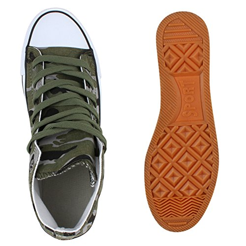 Herren Schuhe Sneakers | Sneaker High Denim | Turnschuhe Camouflage | Stoffschuhe Schnürer Camouflage