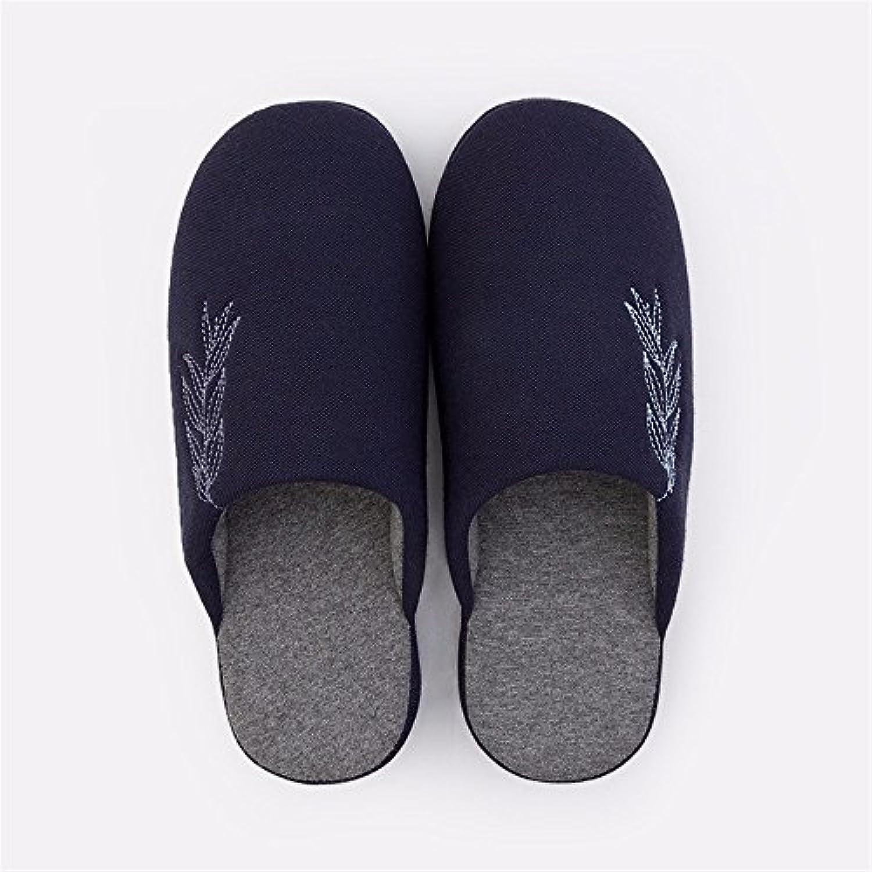 YMFIE Interior de alta calidad pavimento antideslizante zapatillas de algodón señoras y señores simple zapatillas  -