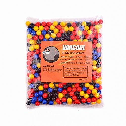 "Vancool Professional Kunststoff Mehrfarbig Slingshots Ammo 3/8 \""(10mm), Mehrfarbige Kugeln 500 Pro Packung"