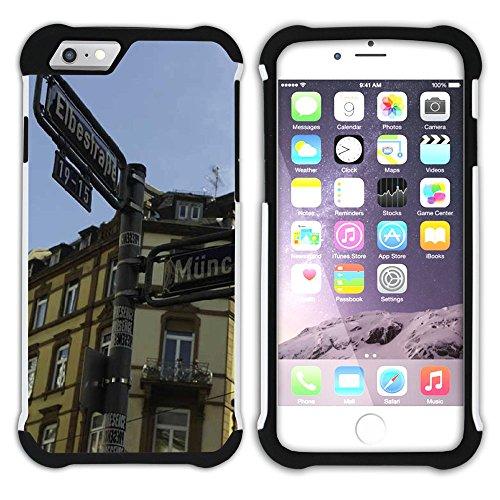 Graphic4You Frankfurt Deutschland Postkarte Aussicht Hart + Weiche Kratzfeste Hülle Case Schale Tasche Schutzhülle für Apple iPhone 6 Plus / 6S Plus Design #15