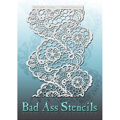 Bad Ass Stencils Jahrgang voller Größe Schablone
