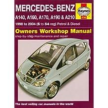 Mercedes-Benz A-Class Petrol & Diesel 1998 - 2004 (S to 54 reg) Haynes Owners Workshop Manual