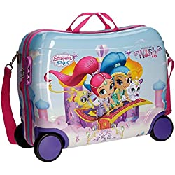 Shimmer and Shine Wish Equipaje Infantil, 50 cm, 34 Litros, Multicolor