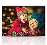 Personello® Foto Adventskalender mit Schokolade befüllt, Besonderer Weihnachtskalender mit eigenem Bild personalisiert (Größe: ca. DIN A4)